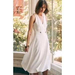 Sézane Mathilda Ecru Midi Dress